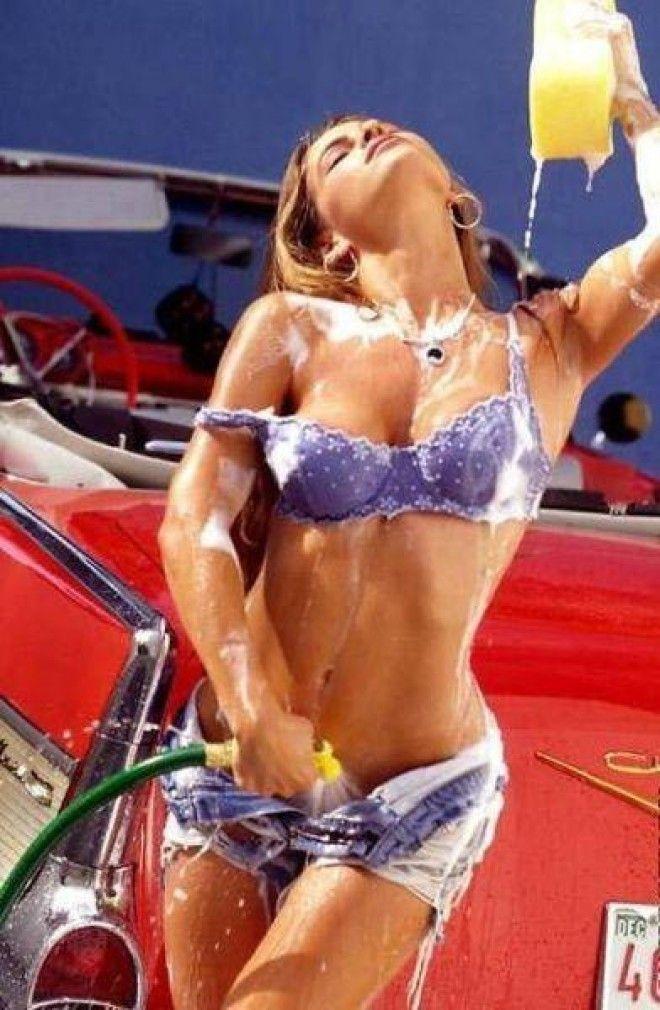 Hot car wash girls