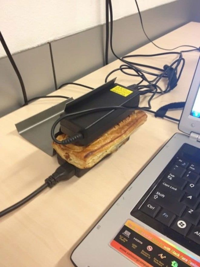 Use Laptop Chargers To Heat Snacks Up