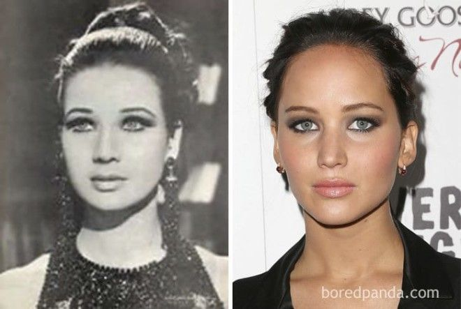 Egyptian Actress Zubaida Tharwat (1940-2016) And Jennifer Lawrence