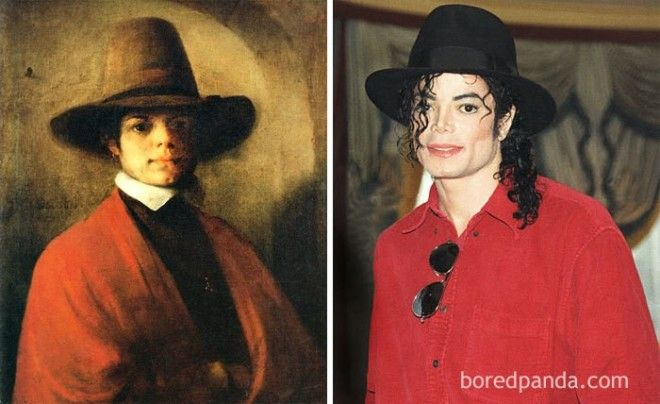 Portrait Of A Young Man By Barent Fabritius And Michael Jackson
