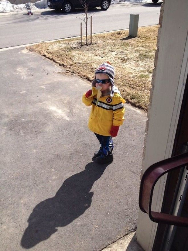 This Is Carter. He Knocked On My Door To Ask If He Could Have A Banana Then Left