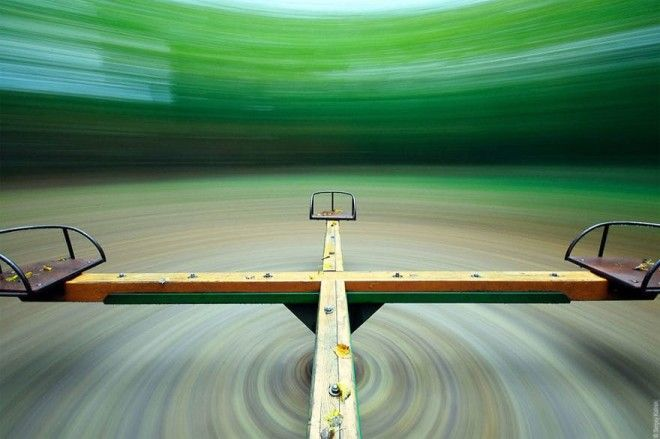 Long Exposure Of Merry Go Round