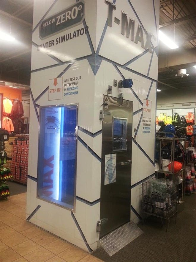 This Store Has A Winter Simulator For Testing Out Winter Clothing