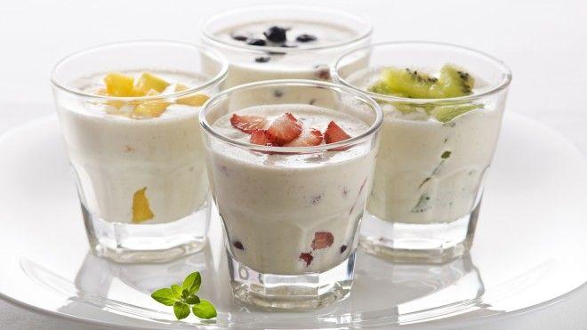 Картинки по запроÑу Йогурт и фрукты.