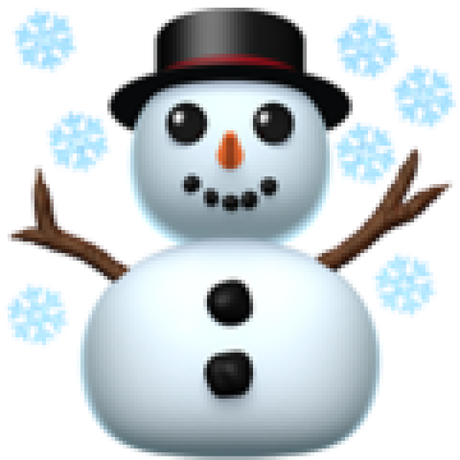 Snowman on Apple iOS 12.1